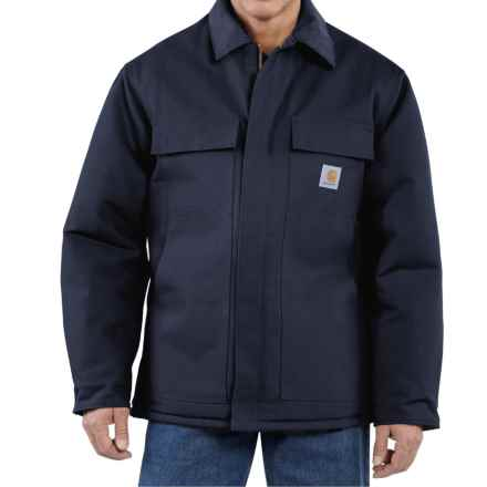 Carhartt Traditional Duck Work Coat - Insulated, Arctic Lining, Factory Seconds (For Men) in Dark Navy - 2nds