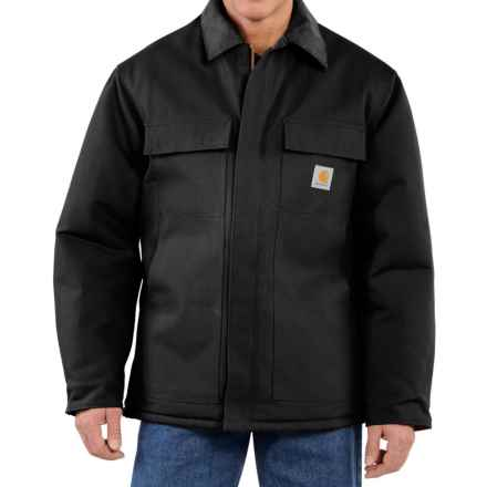 Carhartt Traditional Duck Work Coat - Insulated, Arctic Quilt Lining (For Big Men) in Black - 2nds