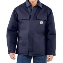 Carhartt Traditional Duck Work Coat - Insulated, Arctic Quilt Lining (For Big Men) in Dark Navy - 2nds