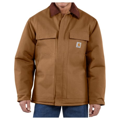 Carhartt Traditional Duck Work Coat - Insulated, Arctic Quilt Lining (For Men)