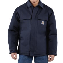 Carhartt Traditional Duck Work Coat - Insulated, Arctic Quilt Lining (For Men) in Dark Navy - 2nds