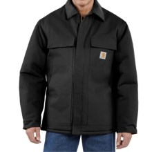 Carhartt Traditional Duck Work Coat - Insulated, Arctic Quilt Lining (For Tall Men) in Black - 2nds