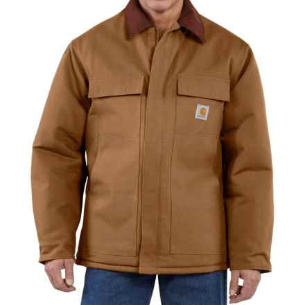 Carhartt Traditional Duck Work Coat - Insulated, Factory Seconds (For Tall Men) in Carhartt Brown - 2nds