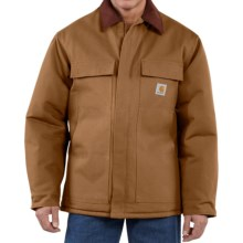 Carhartt Traditional Duck Work Coat - Insulated (For Tall Men) in Carhartt Brown - 2nds