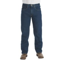Carhartt Traditional Fit Denim Jeans - Straight Leg (For Men) in Dark Vintage Blue - 2nds