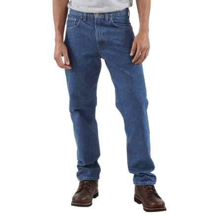 Carhartt Traditional Fit Work Jeans - Factory Seconds (For Men) in Dark Stone Wash - 2nds