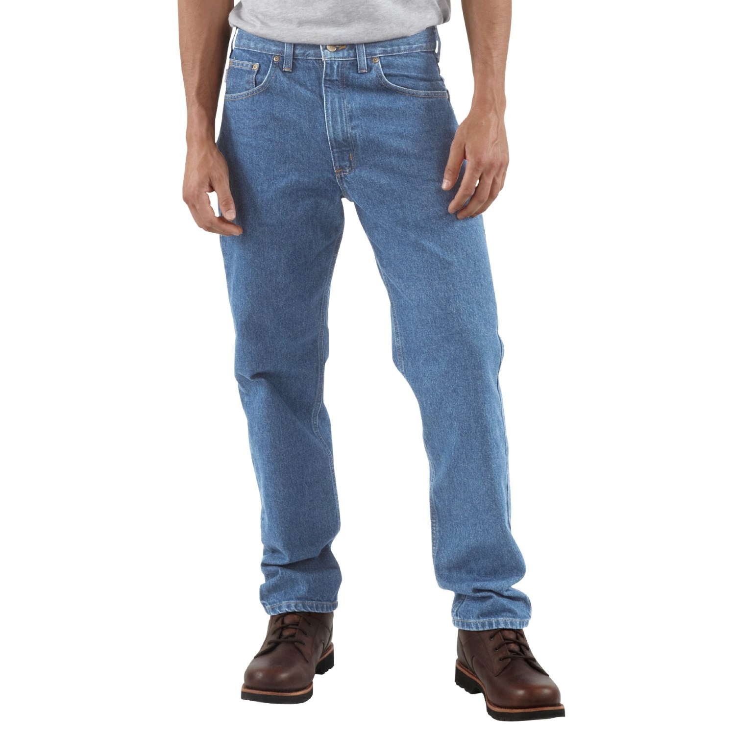 83411a50aef Carhartt Traditional Fit Work Jeans - Factory Seconds (For Men) in Stone  Wash ...