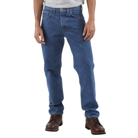Carhartt Traditional Fit Work Jeans (For Men) in Dark Stone Wash