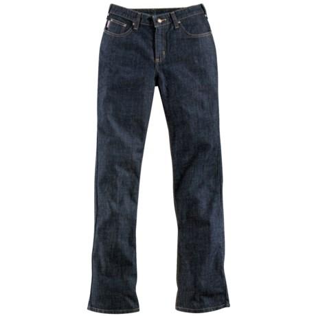 Carhartt Traditional Fit Work Jeans - Straight Leg (For Women) in Indigo Prewash