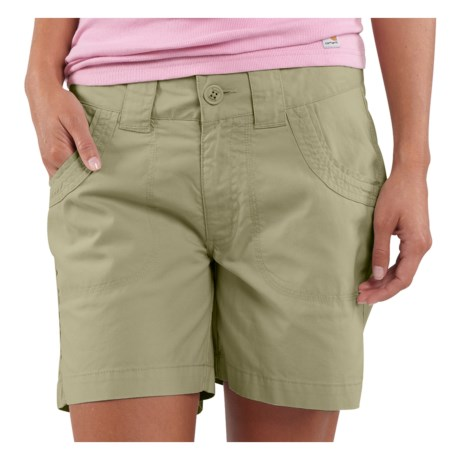 Carhartt Trail Active Shorts (For Women) in Willow