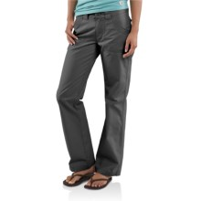 Carhartt Trail Pants - Straight Leg (For Women) in Coal - Closeouts