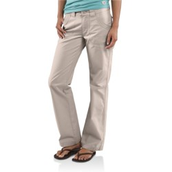 Carhartt Trail Pants - Straight Leg (For Women) in Putty