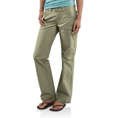 Carhartt Trail Pants - Straight Leg (For Women) in Willow