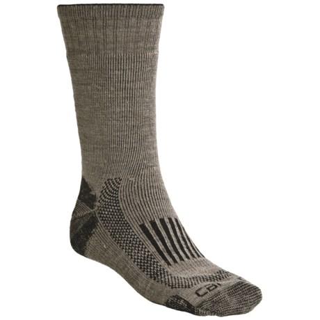 Carhartt Triple-Blend Thermal Socks - Midweigh, Crewt (For Men) in Tan