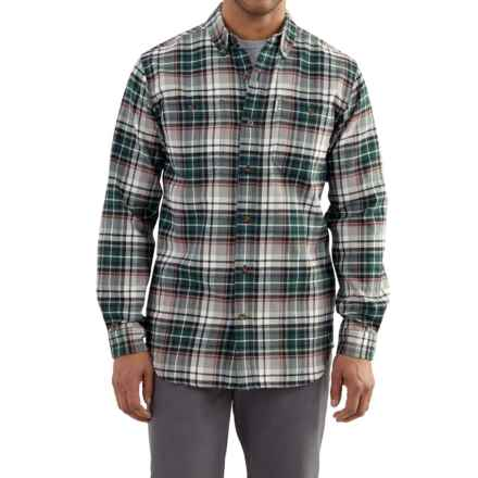 Carhartt Trumbull Plaid Flannel Shirt - Long Sleeve, Factory Seconds (For Men) in Olive - 2nds