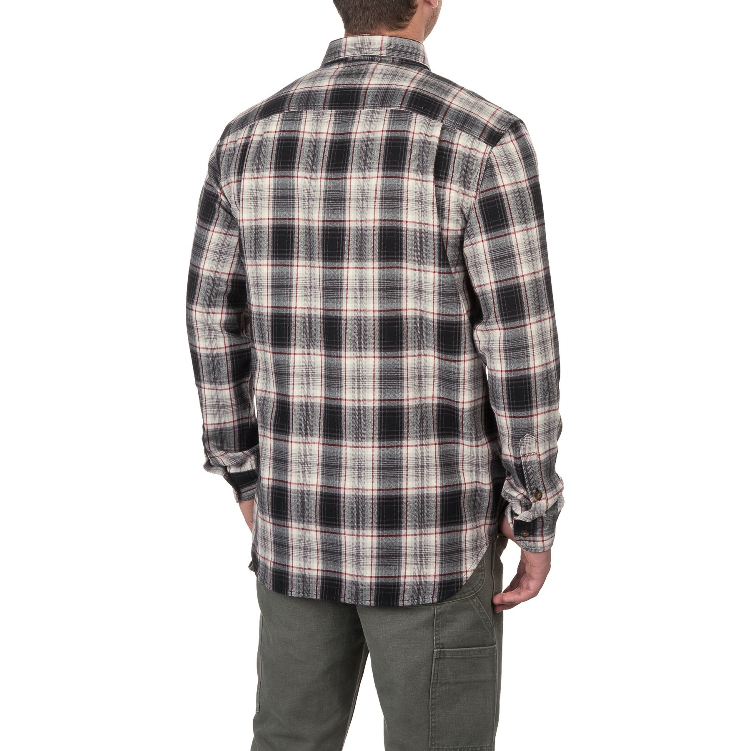 Carhartt trumbull plaid flannel shirt for men for Flannel checked long sleeve shirt