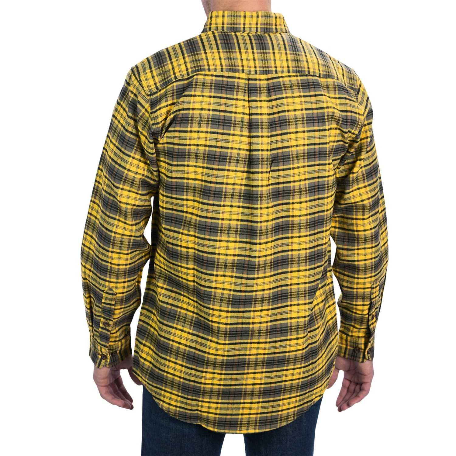Carhartt trumbull plaid flannel shirt for men 6713t for Plaid shirt long sleeve