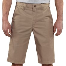 Carhartt Twill Cell Phone Work Shorts (For Men) in Khaki - 2nds