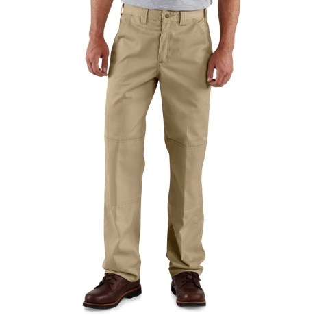Carhartt Twill Double-Knee Work Pants - Factory Seconds (For Men) in Khaki