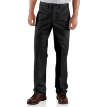Carhartt Twill Double-Knee Work Pants (For Men) in Black - 2nds