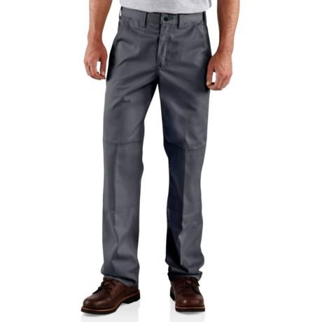 Carhartt Twill Double-Knee Work Pants (For Men) in Black