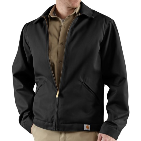Carhartt Twill Midweight Work Jacket - Quilt Lined (For Men) in Black