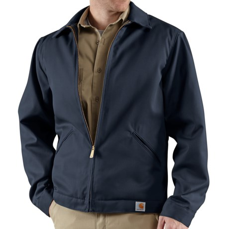 Carhartt Twill Midweight Work Jacket - Quilt Lined (For Men) in Navy