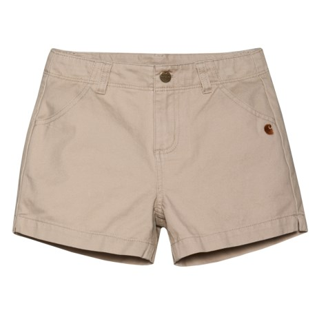 Carhartt Twill Shorts (For Little Girls) in Light Beige