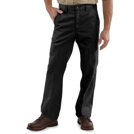 Carhartt Twill Work Pants - Factory Seconds (For Big and Tall Men) in Black