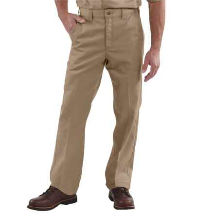 Carhartt Twill Work Pants - Factory Seconds (For Big and Tall Men) in Khaki - 2nds