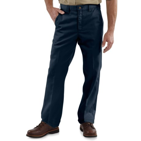 Carhartt Twill Work Pants - Factory Seconds (For Big and Tall Men) in Navy
