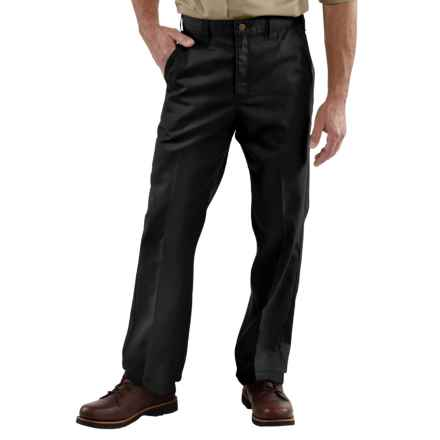 Carhartt Twill Work Pants - Factory Seconds (For Men) in Black - 2nds