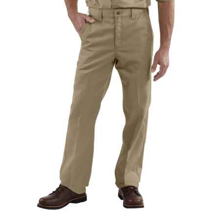 Carhartt Twill Work Pants - Factory Seconds (For Men) in Khaki - 2nds
