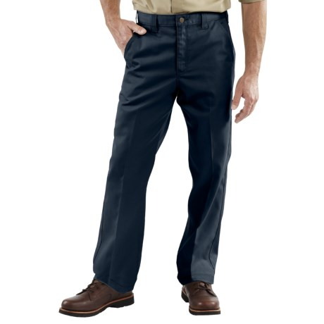 Carhartt Twill Work Pants (For Men) in Navy
