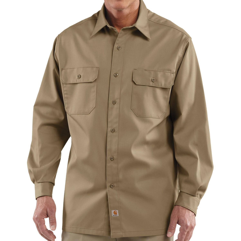 Dickies 574 Mens Long Sleeve Work Shirt Black Navy Khaki