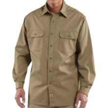 Carhartt Twill Work Shirt - Button-Up, Long Sleeve (For Men) in Khaki - 2nds