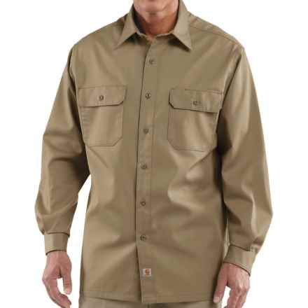 Carhartt Twill Work Shirt - Button-Up, Long Sleeve (For Men) in Khaki - 2nds