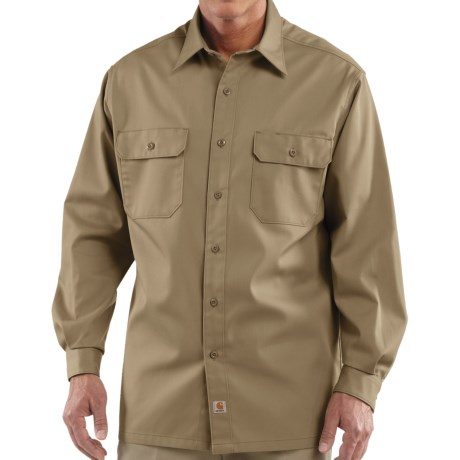 Carhartt Twill Work Shirt - Button-Up, Long Sleeve (For Men) in Khaki