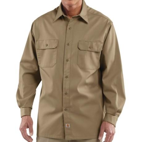 Carhartt Twill Work Shirt - Button-Up, Long Sleeve (For Men) in Khaki