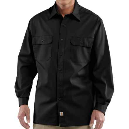 Carhartt Twill Work Shirt - Long Sleeve (For Tall Men) in Black - 2nds