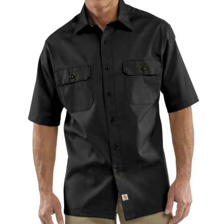 Carhartt Twill Work Shirt - Short Sleeve, Factory Seconds (For Men) in Black - 2nds