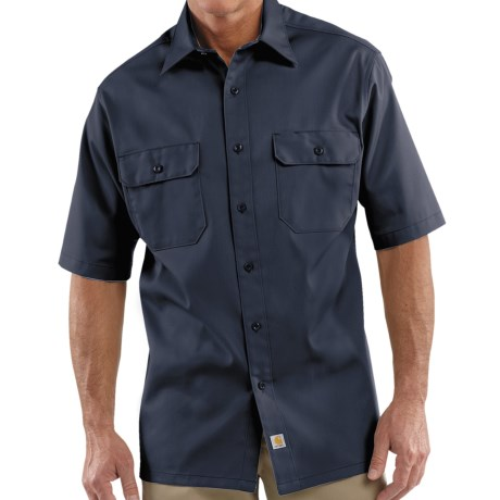 Carhartt Twill Work Shirt - Short Sleeve, Factory Seconds (For Men)