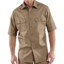 Carhartt Twill Work Shirt - Short Sleeve (For Men) in Khaki - 2nds