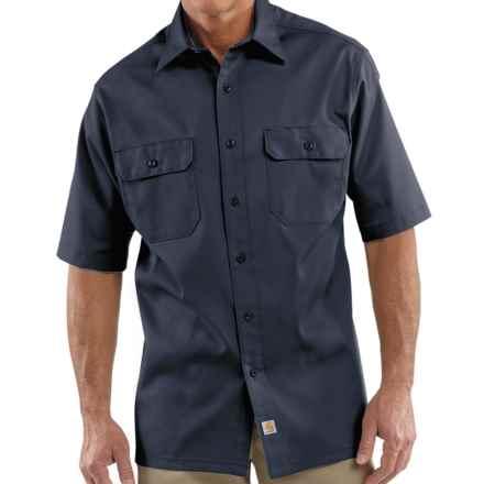 Carhartt Twill Work Shirt - Short Sleeve (For Men) in Navy - 2nds