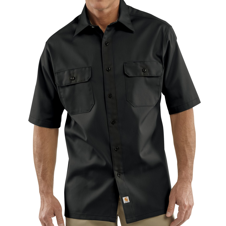 Carhartt twill work shirt short sleeve for tall men for Carhartt work shirts tall