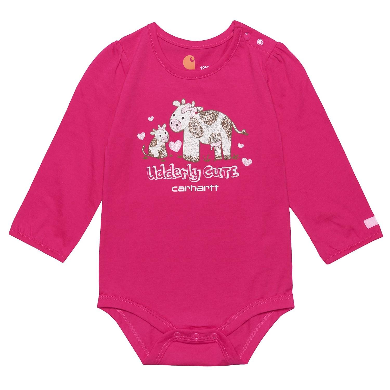Carhartt Udderly Cute Baby Bodysuit For Infant Girls