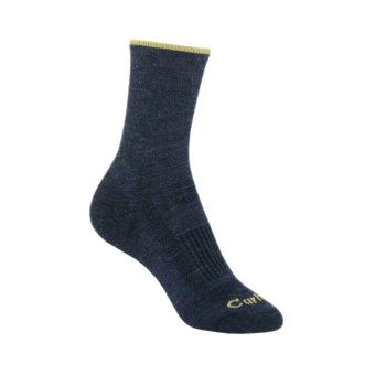 Carhartt Ultimate Merino Wool Socks - Lightweight, Crew (For Women) in Navy/Lime