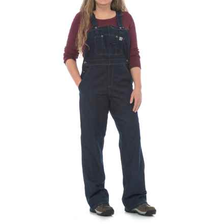 Carhartt Unlined Denim Overalls (For Women) in Dark Blue Ridge - Closeouts
