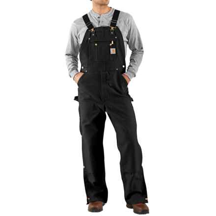 Carhartt Unlined Dual Hammer Loop Duck Bib Overalls - Factory Seconds (For Men) in Black - 2nds