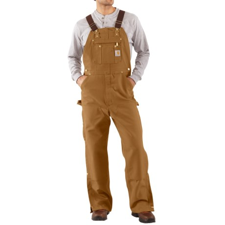 Carhartt Unlined Dual Hammer Loop Duck Bib Overalls - Factory Seconds (For Men) in Carhartt Brown
